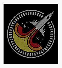 Spacefighter Mission Patch - (Stripe) Photographic Print
