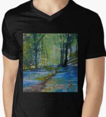 The Bluebell Wood, Watercolour Art T-Shirt