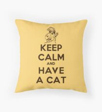 Keep Calm Cat Throw Pillow