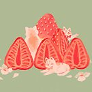 Strawberry Cats by Ira B