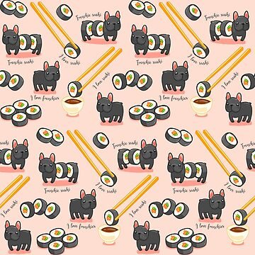 Fun sushi roll dog cute pattern by dupabyte