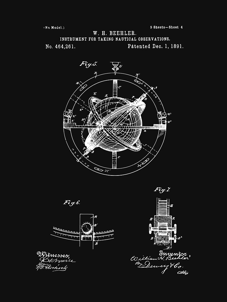 Vintage nautical compass 1891 patent drawing illustration art vintage nautical compass 1891 patent drawing illustration art print wall art home malvernweather