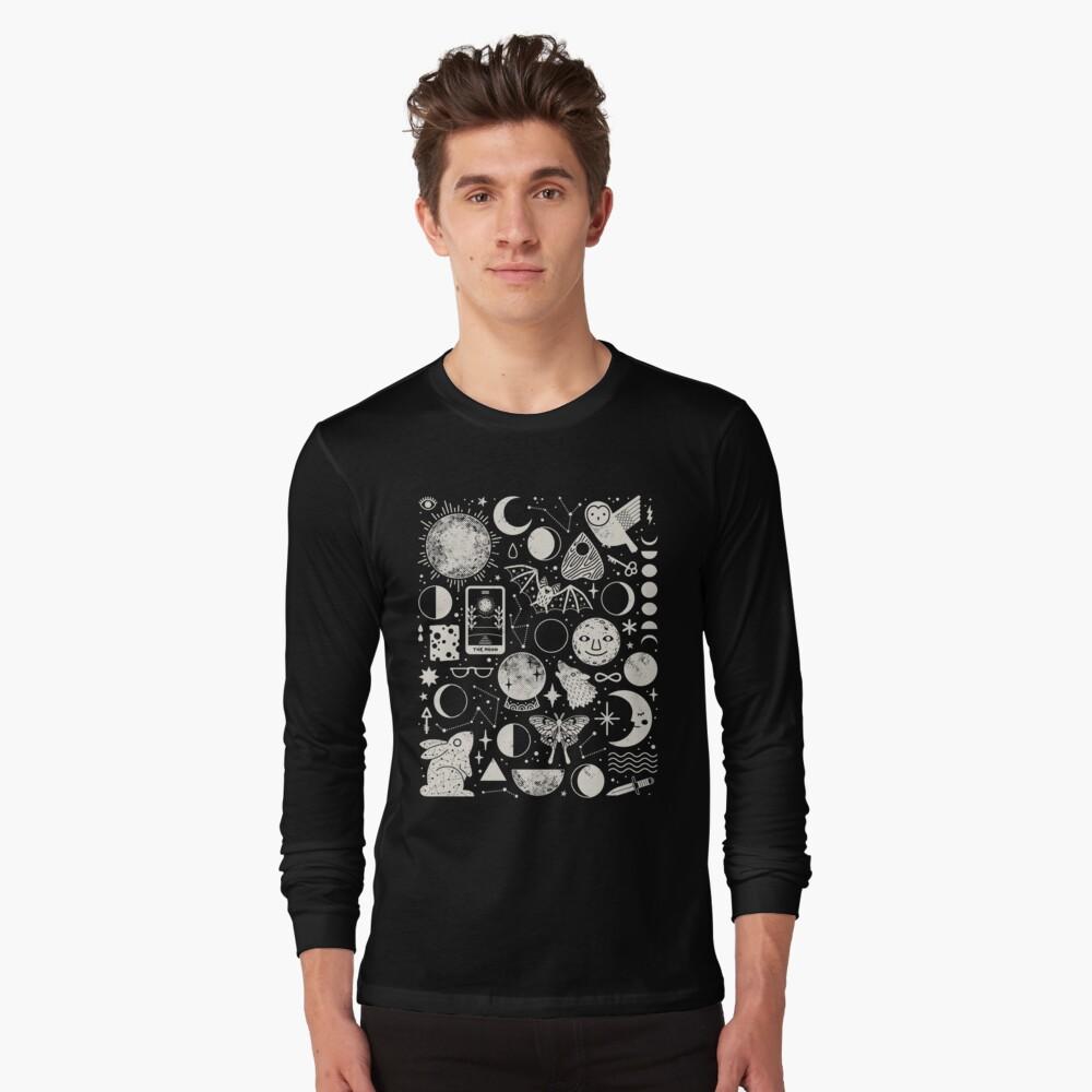 Lunar Pattern: Eclipse Long Sleeve T-Shirt