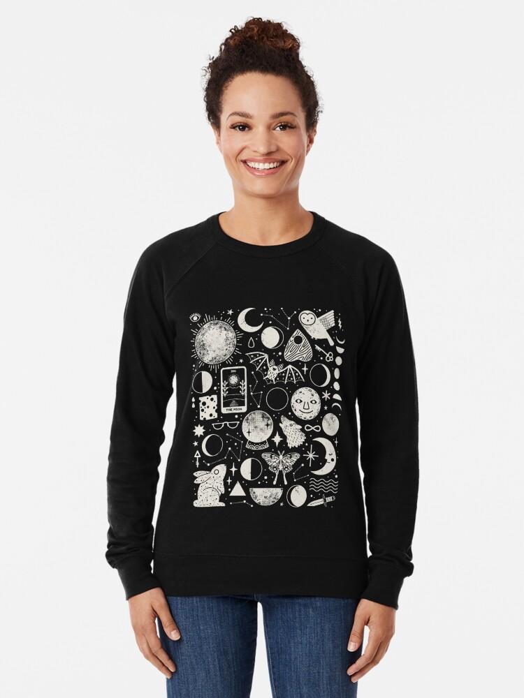 Alternate view of Lunar Pattern: Eclipse Lightweight Sweatshirt
