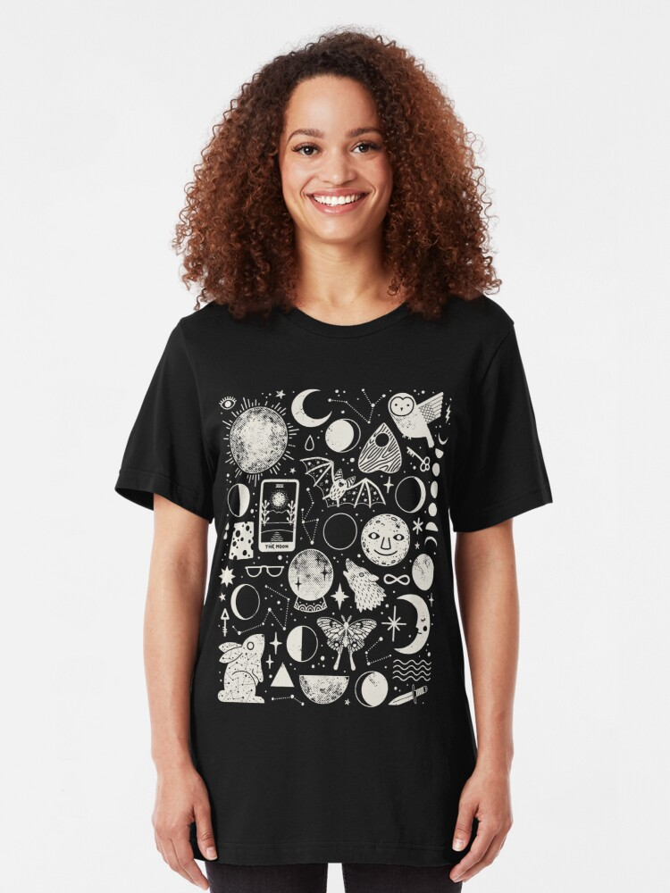 Alternate view of Lunar Pattern: Eclipse Slim Fit T-Shirt