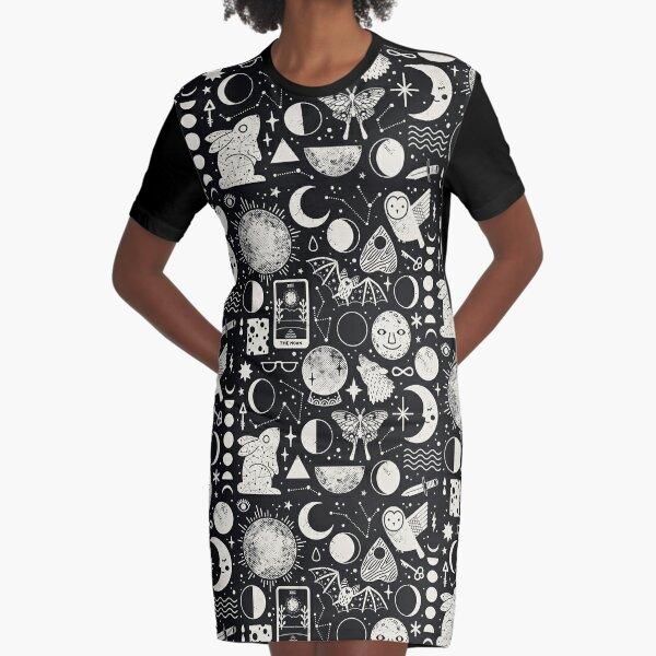 Lunar Pattern: Eclipse Graphic T-Shirt Dress