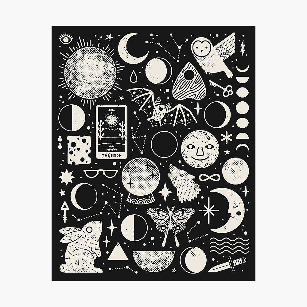 Lunar Pattern: Eclipse Photographic Print