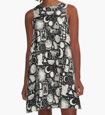 Lunar Pattern: Eclipse A-Line Dress