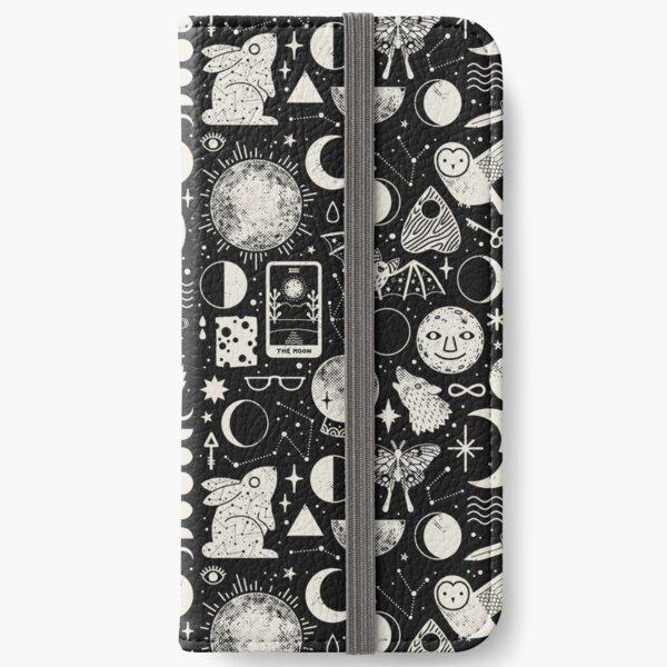 Motif lunaire: Eclipse Étui portefeuille iPhone