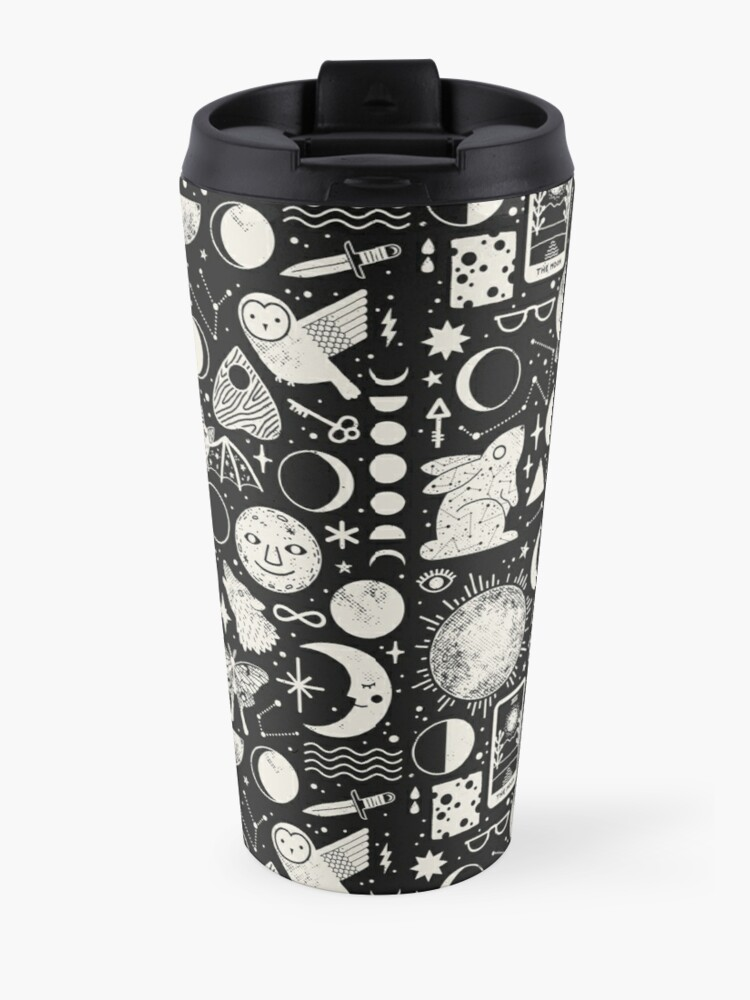 Alternate view of Lunar Pattern: Eclipse Travel Mug