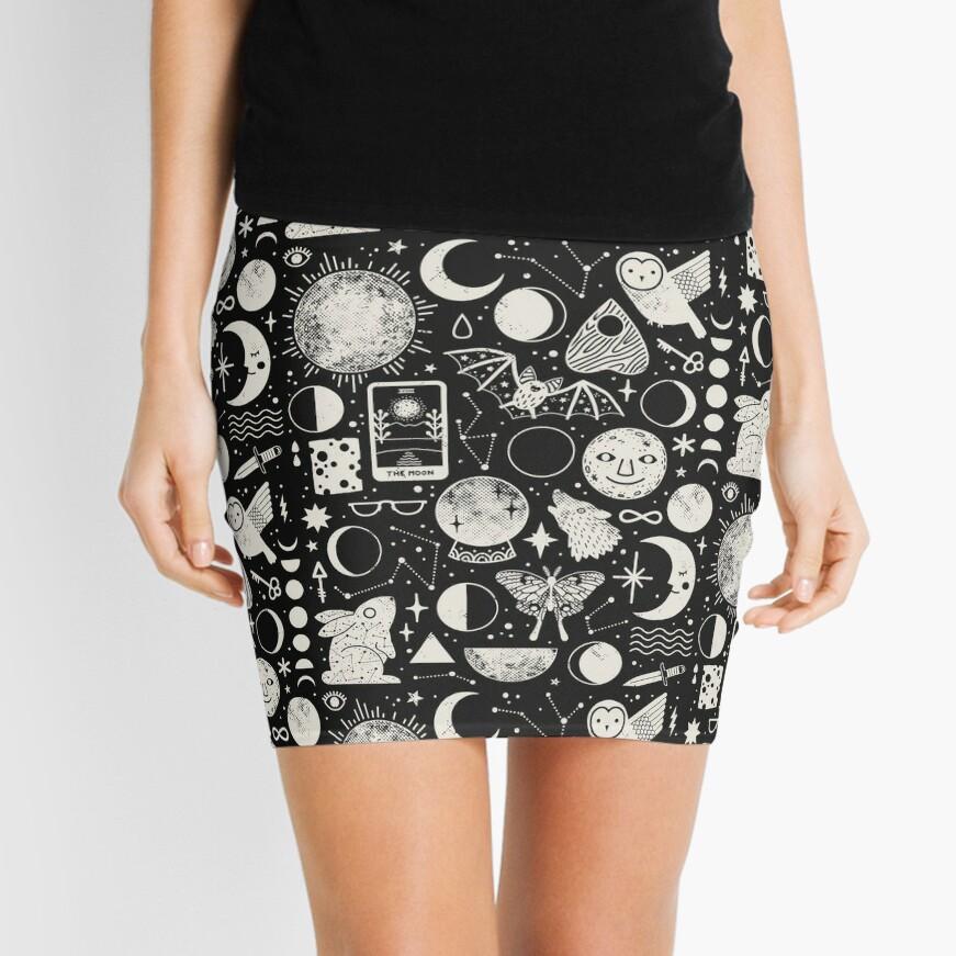 Lunar Pattern: Eclipse Mini Skirt