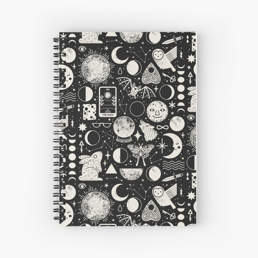 Lunar Pattern: Eclipse Spiral Notebook
