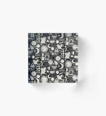 Lunar Pattern: Eclipse Acrylic Block