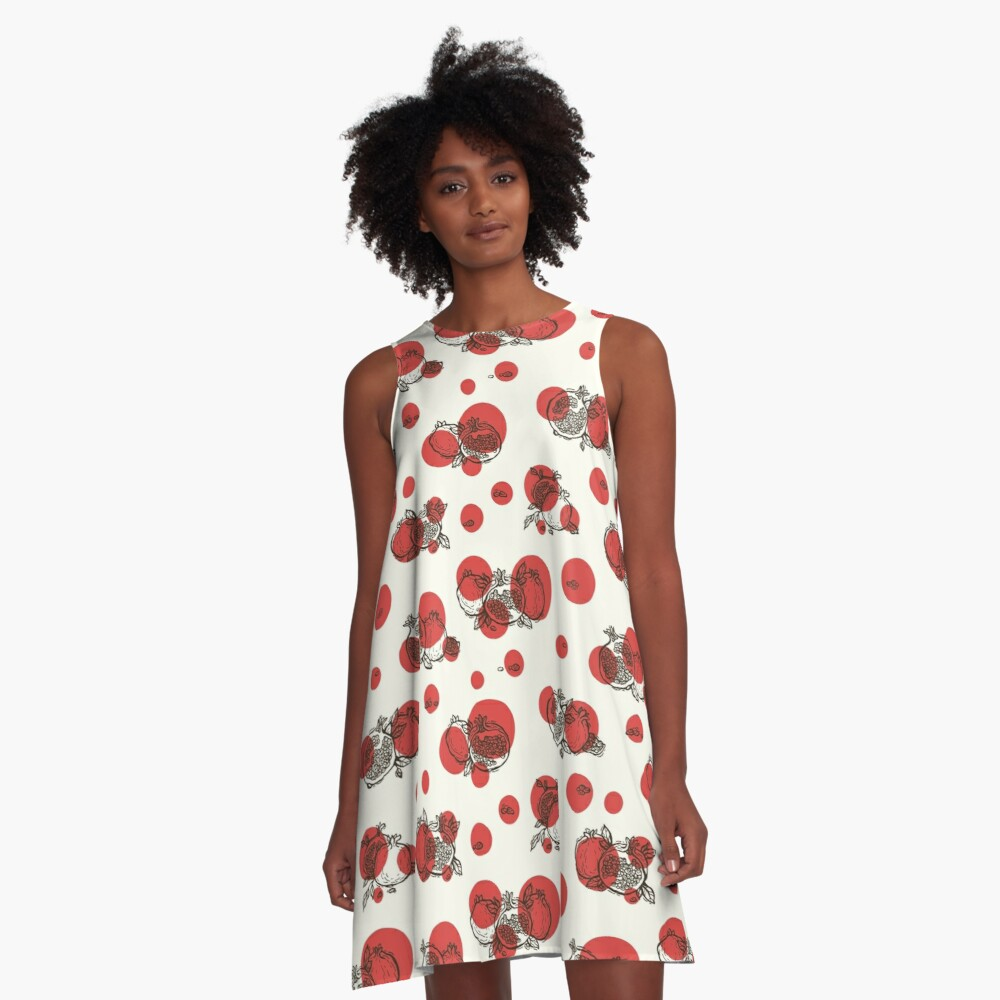 Decorative pomegranates A-Line Dress