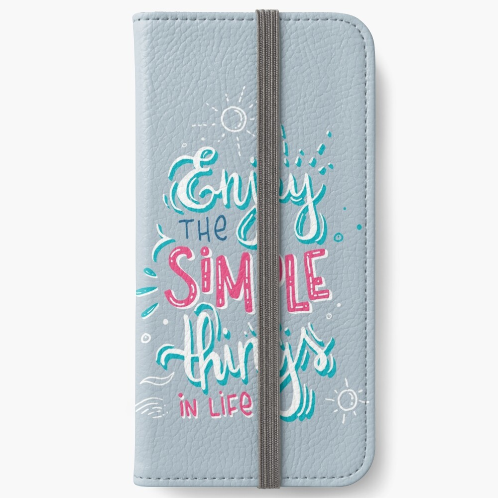 Fun motivational lettering iPhone Wallet