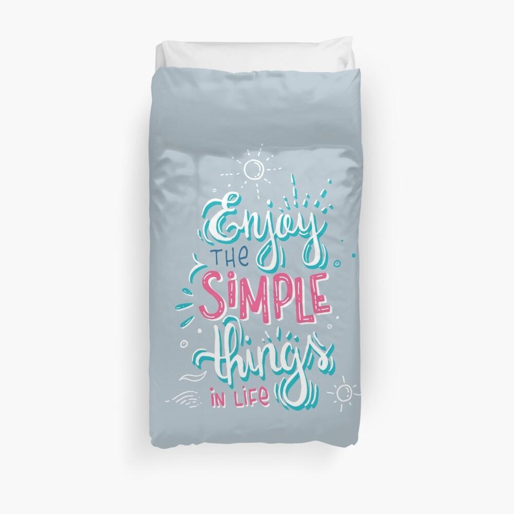 Fun motivational lettering Duvet Cover