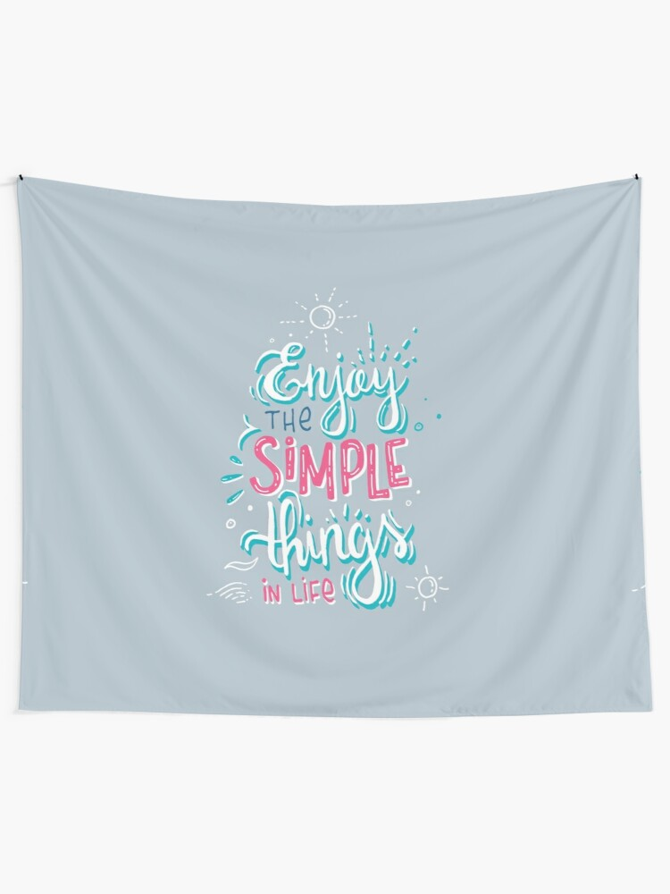 Alternate view of Fun motivational lettering Tapestry