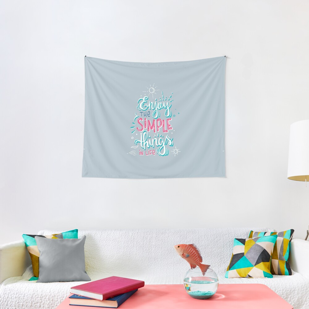 Fun motivational lettering Tapestry