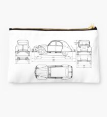 Vintage Citroen DS Blueprint | Cars Studio Pouch