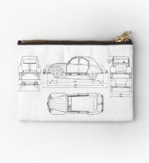 Vintage Citroen DS Blueprint   Cars Studio Pouch