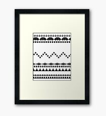 Retro Gaming Aztec Pattern Framed Print