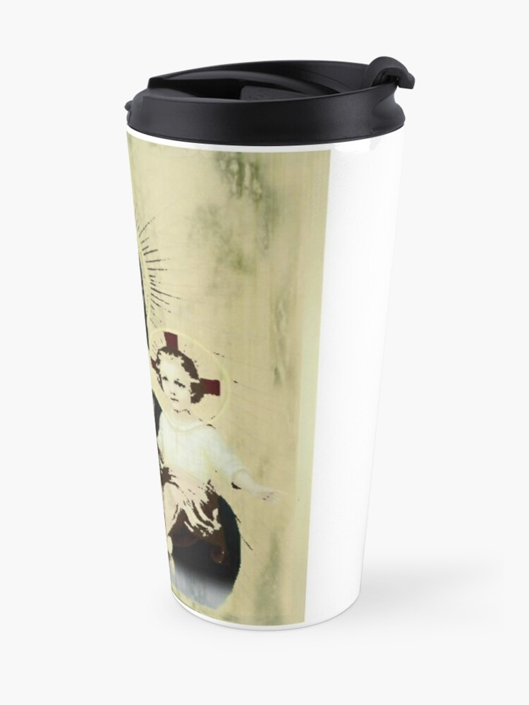 Alternate view of Mother of the Eucharist  Travel Mug