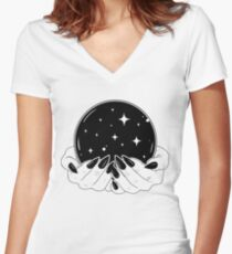 Crystal Ball Women's Fitted V-Neck T-Shirt