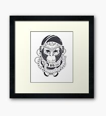 Monkey Rules The Stars Astronaut Sci Fi Framed Print