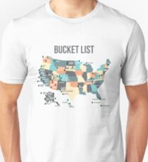 National Parks Bucket List with All 59 National Parks Unisex T-Shirt