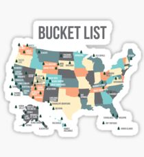 National Parks Bucket List with All 59 National Parks Sticker