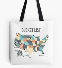 National Parks Bucket List with All 59 National Parks Tote Bag