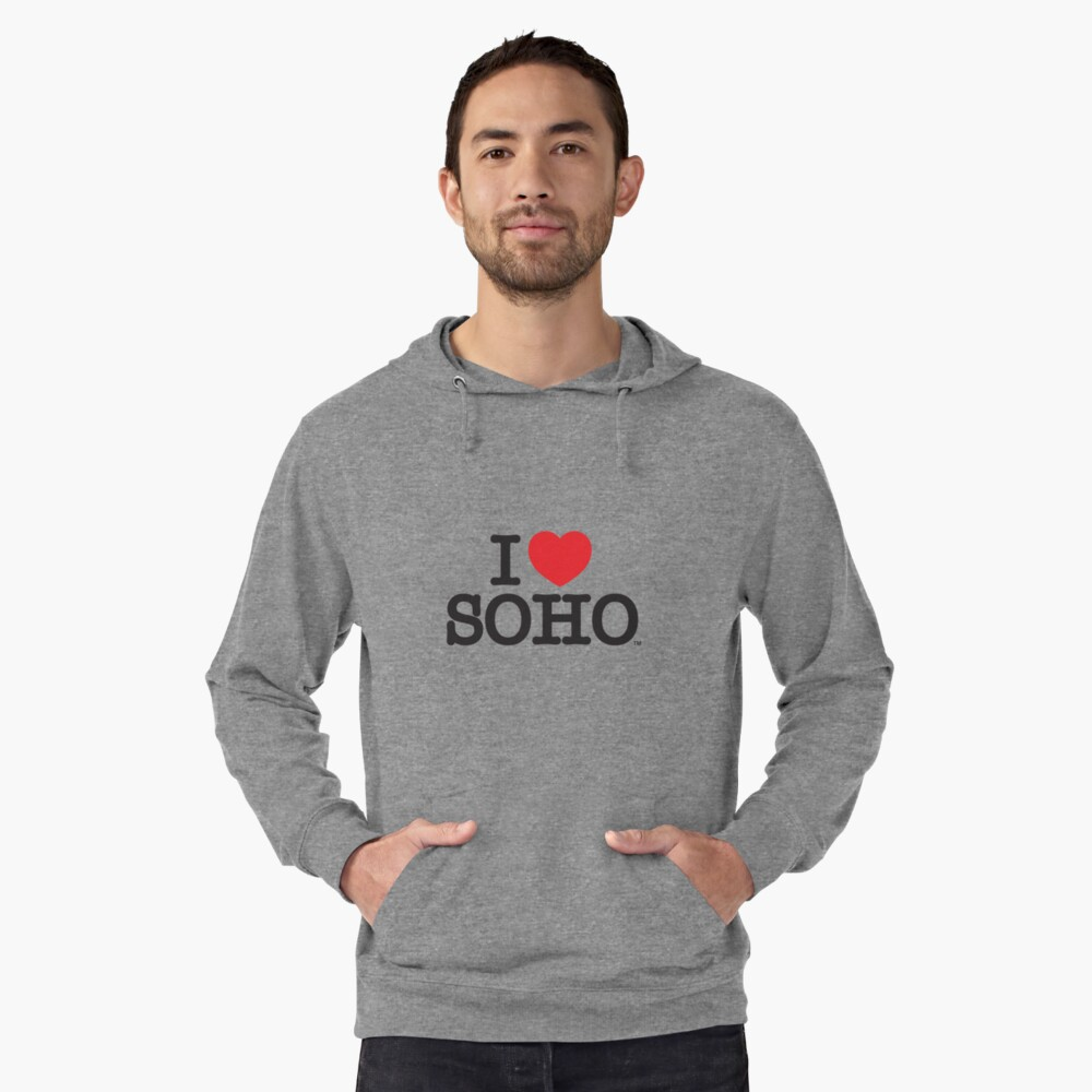I Love Soho Official Merchandise @ilovesoholondon Lightweight Hoodie Front