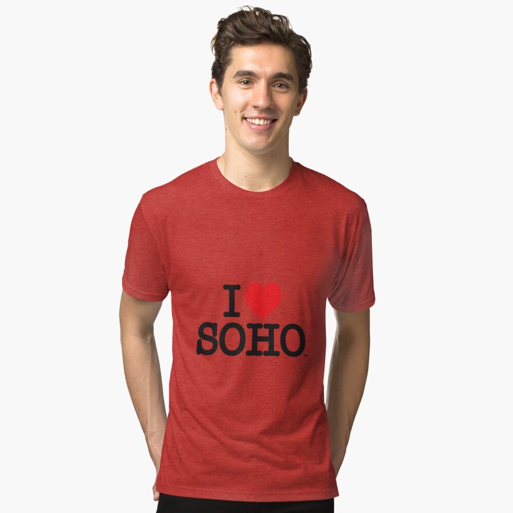 I Love Soho Official Merchandise @ilovesoholondon Tri-blend T-Shirt