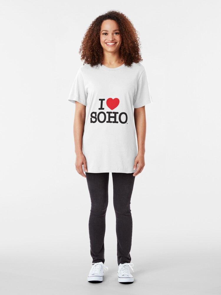 Alternate view of I Love Soho Official Merchandise @ilovesoholondon Slim Fit T-Shirt