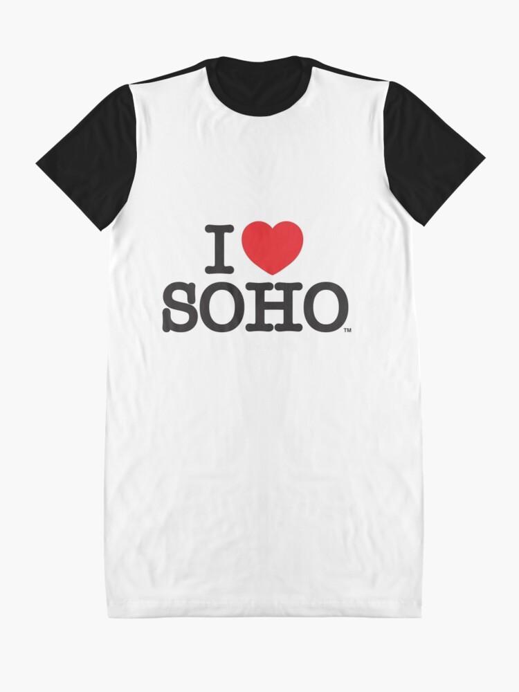Alternate view of I Love Soho Official Merchandise @ilovesoholondon Graphic T-Shirt Dress