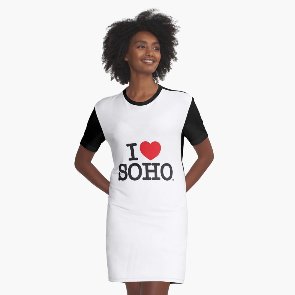 I Love Soho Official Merchandise @ilovesoholondon Graphic T-Shirt Dress Front