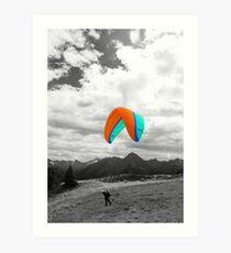 Paragliding Art Print
