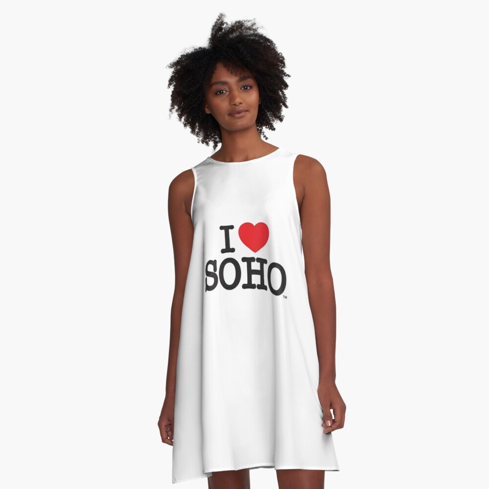 I Love Soho Official Merchandise @ilovesoholondon A-Line Dress Front