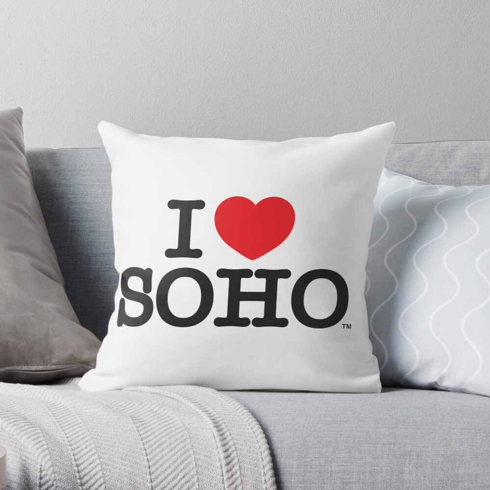 I Love Soho Official Merchandise @ilovesoholondon Throw Pillow