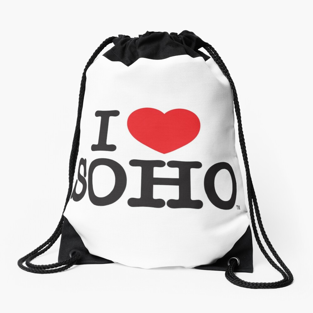 I Love Soho Official Merchandise @ilovesoholondon Drawstring Bag