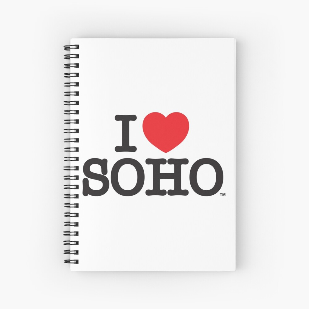 I Love Soho Official Merchandise @ilovesoholondon Spiral Notebook