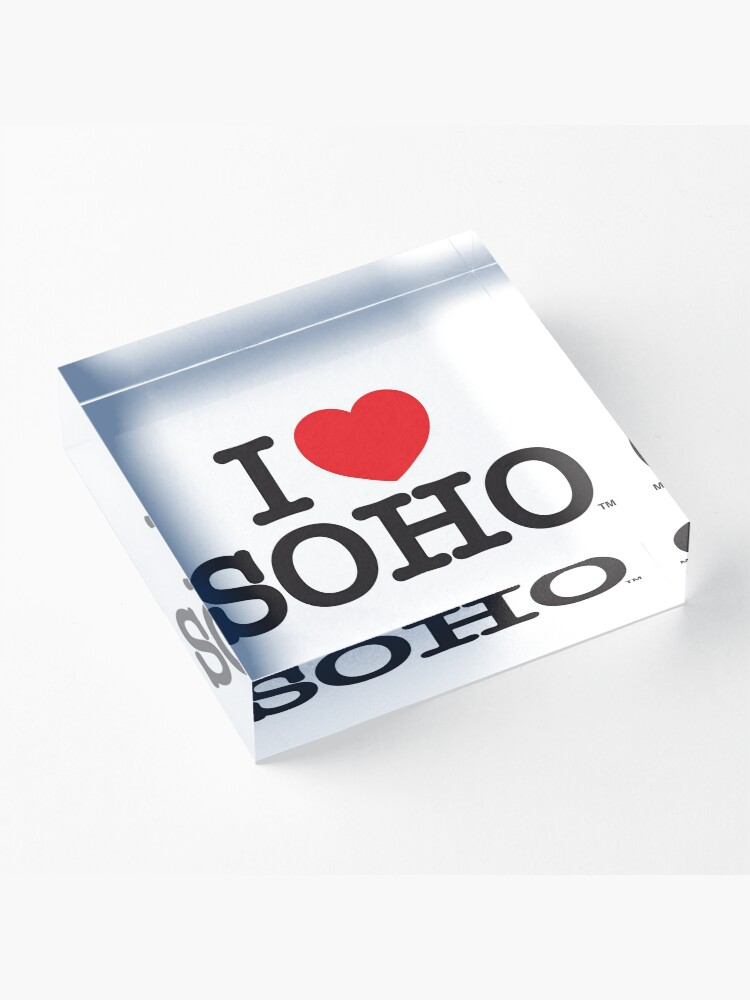 Alternate view of I Love Soho Official Merchandise @ilovesoholondon Acrylic Block