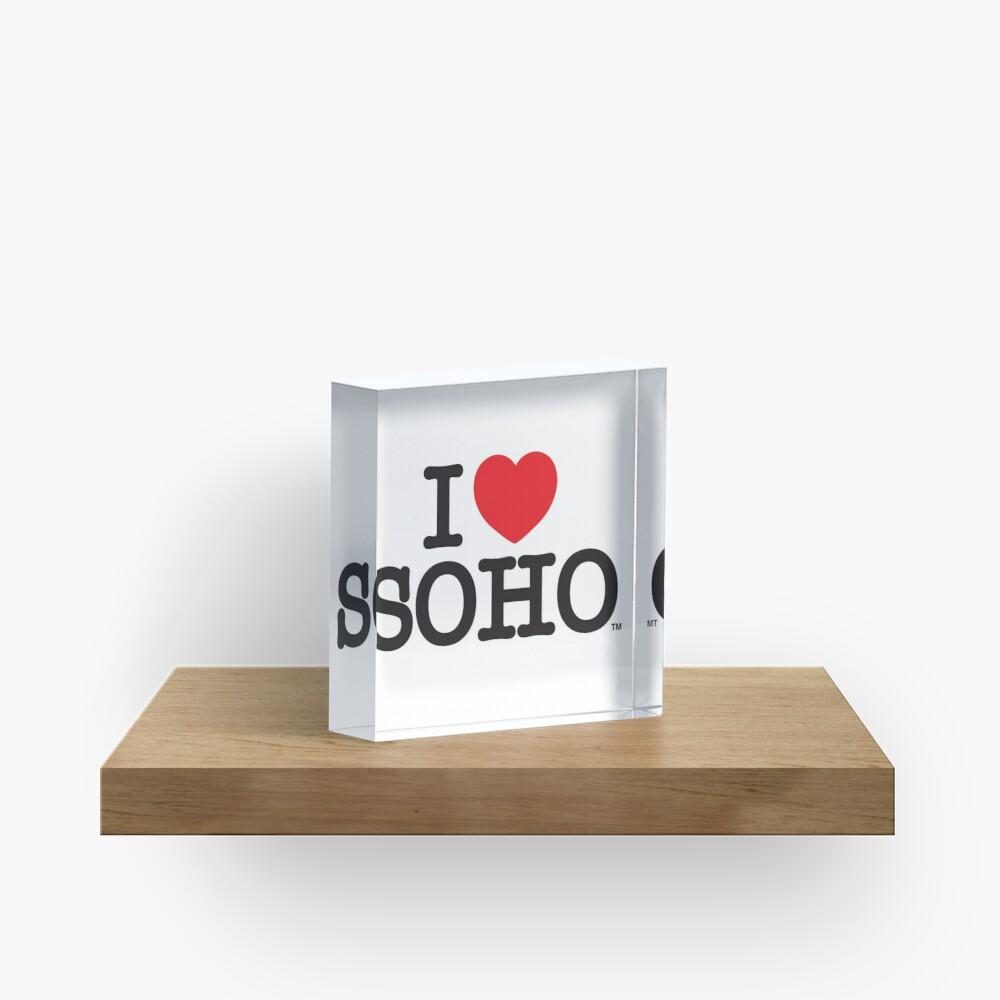 I Love Soho Official Merchandise @ilovesoholondon Acrylic Block