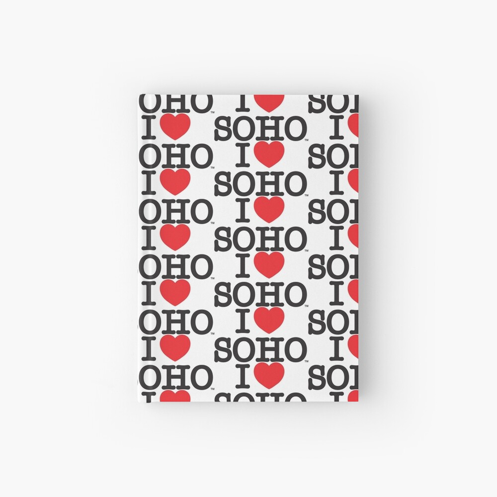 I Love Soho Official Merchandise @ilovesoholondon Hardcover Journal