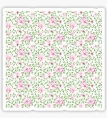Pastel pink green watercolor hand painted flowers Sticker