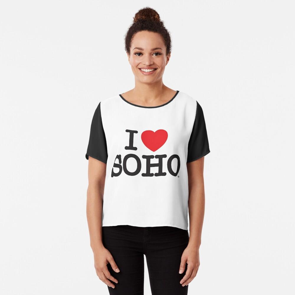 I Love Soho Official Merchandise @ilovesoholondon Chiffon Top