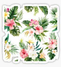 Watercolour Tropical Flowers Pattern Sticker