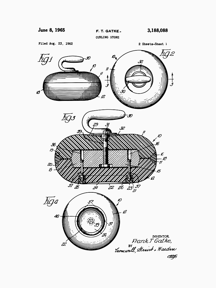 Curling stone patent print curling stone patent sports art curling stone patent print curling stone patent sports art sports wall art malvernweather Image collections