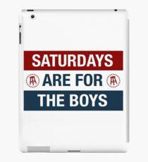 Saturdays are for the boys iPad Case/Skin