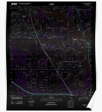 USGS TOPO Map Florida FL Palm City 20120726 TM Inverted Poster
